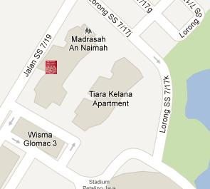 Kelana Jaya Immigration Office Location Map