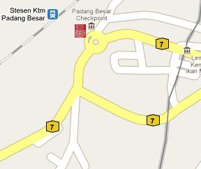 Padang Besar Immigration Post Location Map