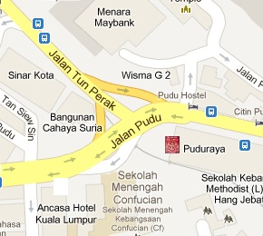 UTC Pudu Sentral Immigration Office Location Map