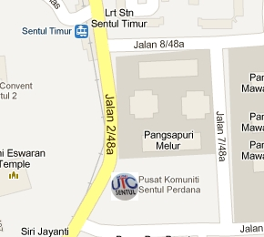 UTC Sentul Immigration Office Location Map
